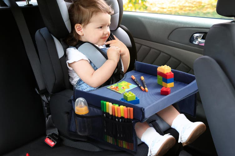 Kogan Kids Car Travel Eat and Play Activity Lap Tray (Navy)