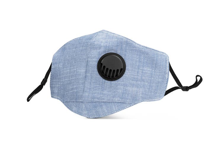 Kids Chambray Washable & Reusable PM2.5 Face Mask With Respirator (2 Mask + 8 Filters)