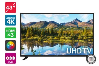 "Kogan 43"" 4K UHD HDR LED TV (Series 8, JU8300) Preowned"