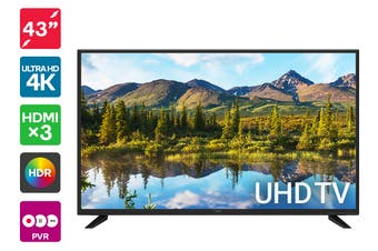 "Kogan 43"" 4K UHD HDR LED TV (Series 8, JU8300)"