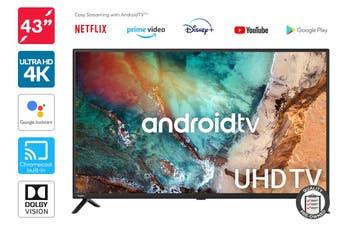 """Kogan 43"""" Smart HDR 4K UHD LED TV Android TV™ (Series 9, XU9210) Preowned"""