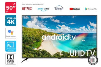 """Kogan 50"""" Smart HDR 4K UHD LED TV Android TV™ (Series 9, XU9210) Preowned"""