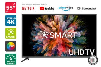 "Kogan 55"" Smart HDR 4K UHD LED TV (Series 8, NU8020) Preowned"