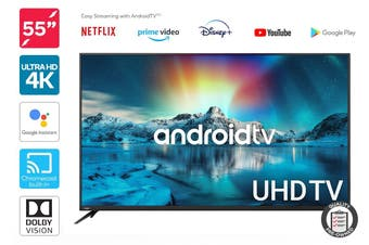 "Kogan 55"" 4K UHD HDR LED Smart TV Android TV™ (Series 9, XU9210) Preowned"