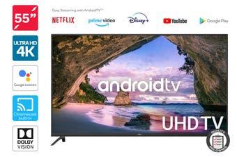 """Kogan 55"""" Smart HDR 4K UHD LED TV Android TV™ (Series 9, XU9220) Preowned"""