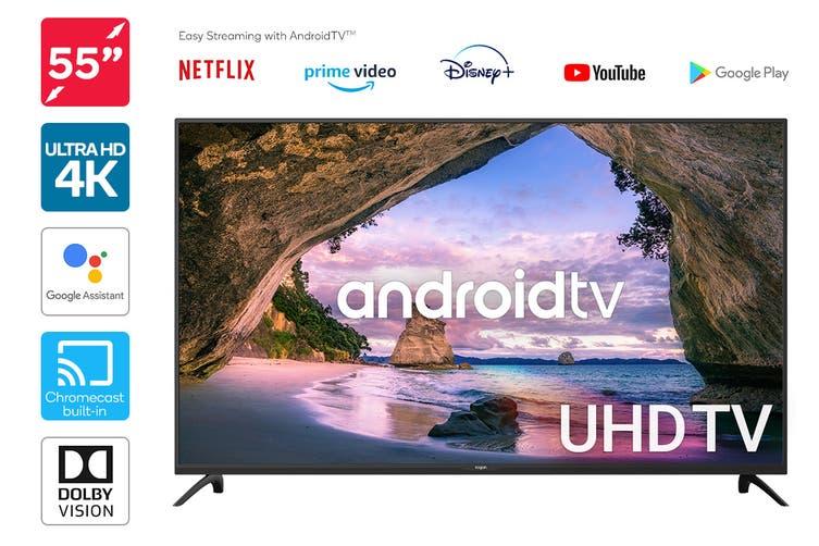 "Kogan 55"" Smart HDR 4K UHD LED TV Android TV™ (Series 9, XU9220)"