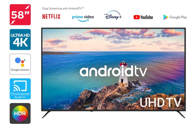 "Kogan 58"" Smart HDR 4K UHD LED TV Android TV™ (Series 9, RU9210)"
