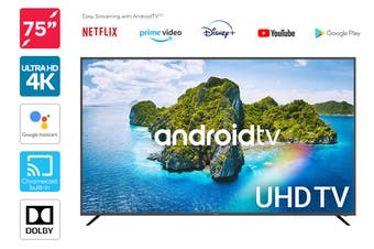 "Kogan 75"" 4K UHD HDR LED Smart TV Android TV™ (Series 9, XU9210)"