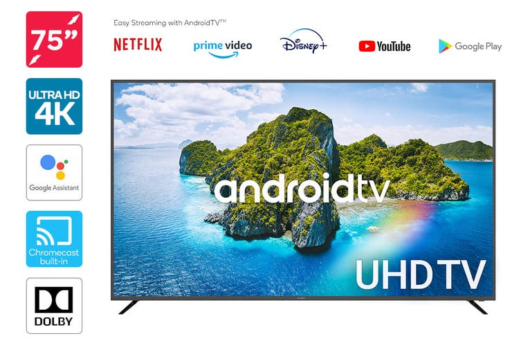 "Kogan 75"" Smart HDR 4K UHD LED TV Android TV™ (Series 9, XU9210)"