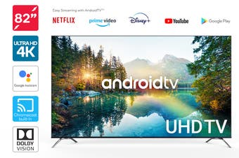 "Kogan 82"" 4K UHD HDR LED Smart TV Android TV™ (Series 9)"