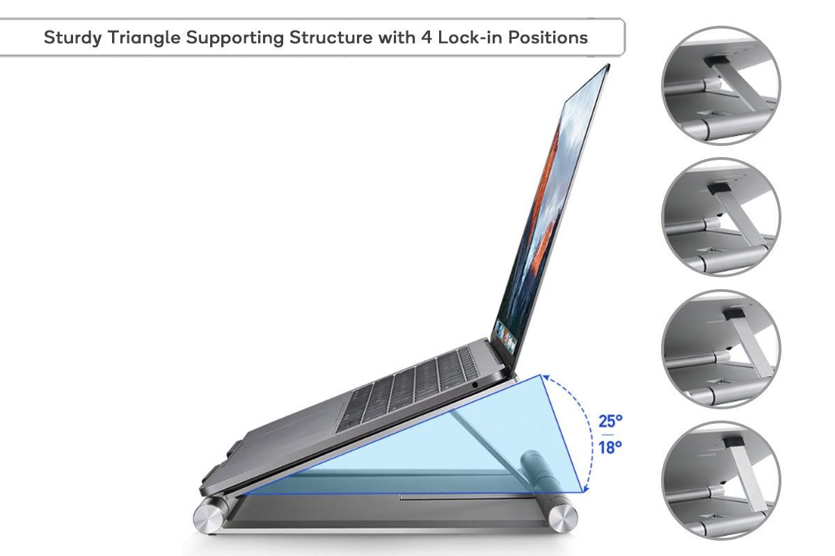 Kogan Aluminium Infinite Height Adjustable Laptop Stand