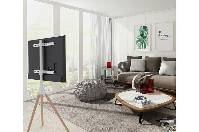 "Kogan Larvik Studio Stand for 45""-65"" TVs (White/Natural Oak)"