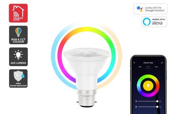 Kogan SmarterHome™ 6.5W Colour & Warm/Cool White Outdoor Smart Bulb (B22)