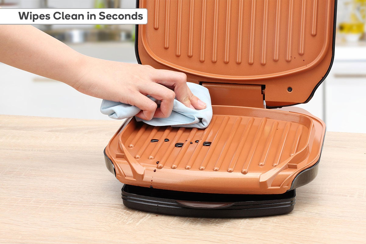 Wipes clean in seconds