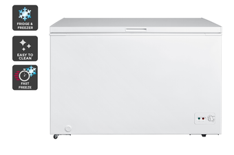 Kogan 362L Interchangeable Chest Fridge and Freezer - White