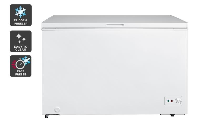 Kogan 362L Interchangeable Chest Fridge and Freezer - White
