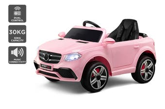 Kids Mercedes-Benz-Inspired Ride-On Car (Pink)