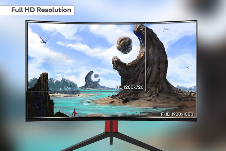"Kogan 27"" Curved Full HD 165Hz FreeSync Gaming Monitor (1920 × 1080)"