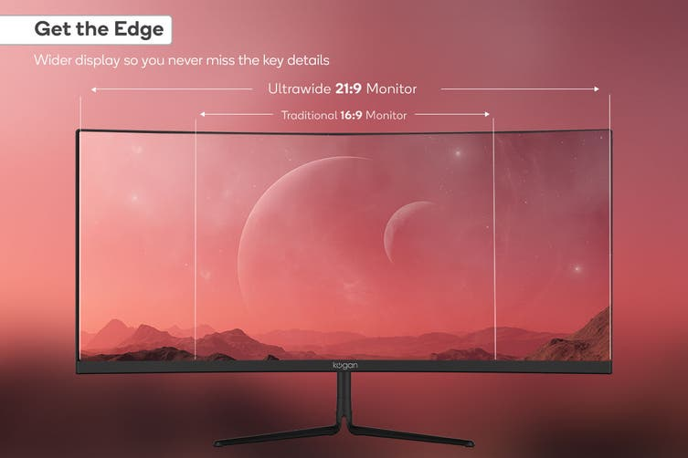 "Kogan 29"" Curved 21:9 Ultrawide 100Hz FreeSync Gaming Monitor (2560 x 1080)"