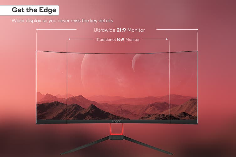 """Kogan 30"""" Curved 21:9 Ultrawide FreeSync 75Hz Monitor (2560 x 1080)"""