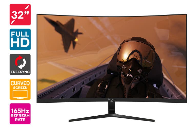 "Kogan 32"" Curved Full HD 165Hz FreeSync Gaming Monitor (1920 × 1080)"