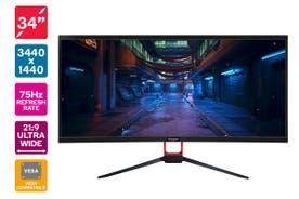 "Kogan 34"" WQHD 21:9 Ultrawide 75Hz Monitor (3440 x 1440)"