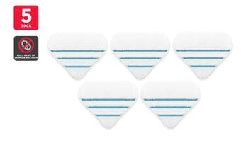 Kogan 9-in-1 Steam Mop Stick and 11-in-1 Steam Mop Replacement Pads (5 Pack)