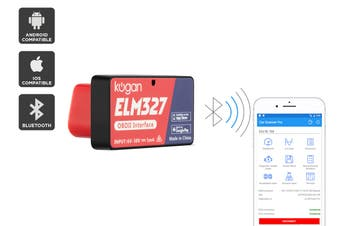 Kogan ELM327 OBD2 Bluetooth Car Diagnostic Scanner for iOS and Android