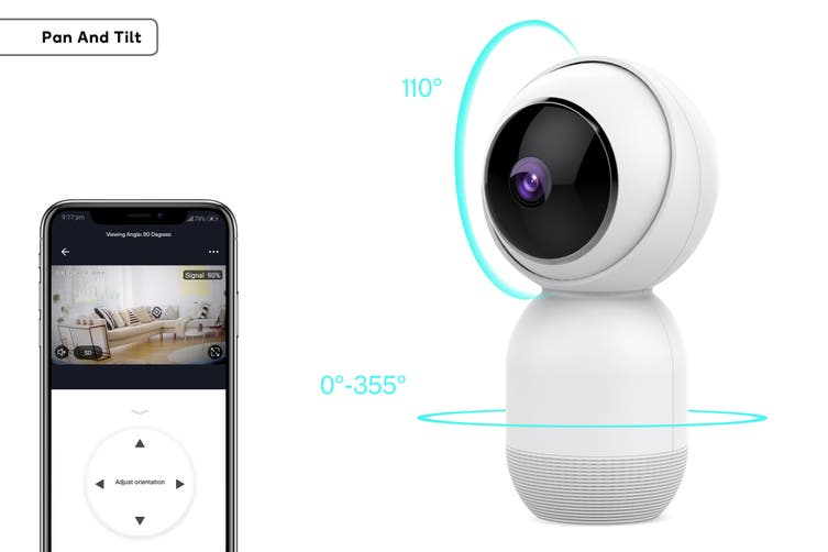 Kogan SmarterHome™ Motion & Object Tracking Pan & Tilt Smart Camera