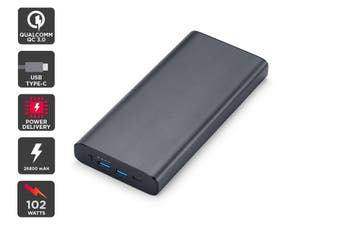 Kogan 26800 mAh Power Bank Pro (102W) with PD and QC 3.0 (Space Grey)