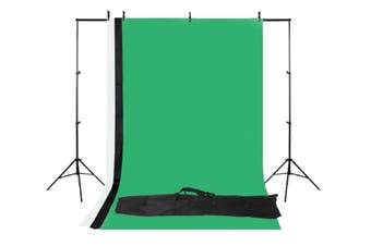 Kogan Photography Background Stand with 3 Backdrops