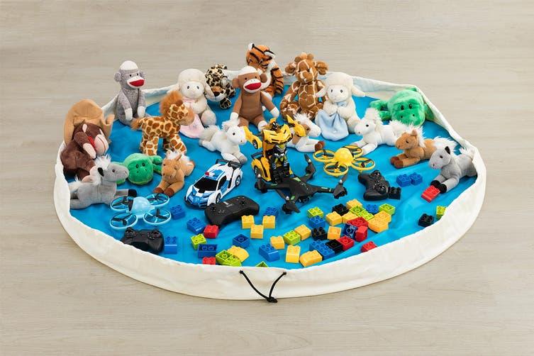 Hideaway Toy Storage Pouch (Blue)