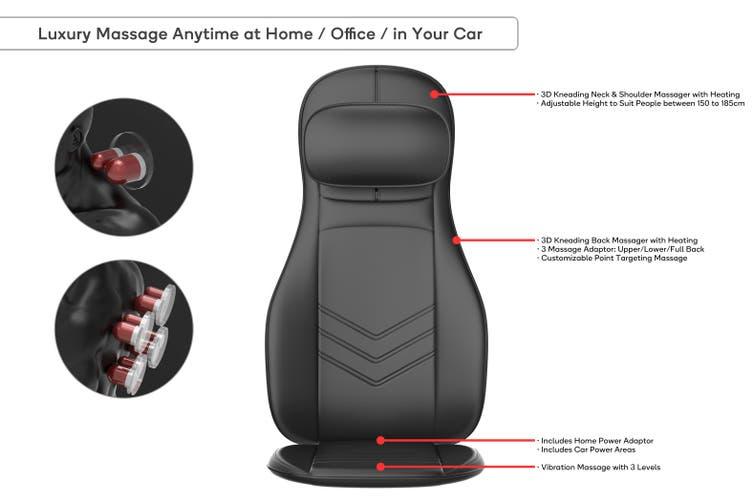 Kogan Premium Neck and Back Shiatsu Massage Seat Cushion
