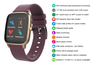 Kogan Pulse+ Body Temperature Thermometer Smart Watch (Ruby)