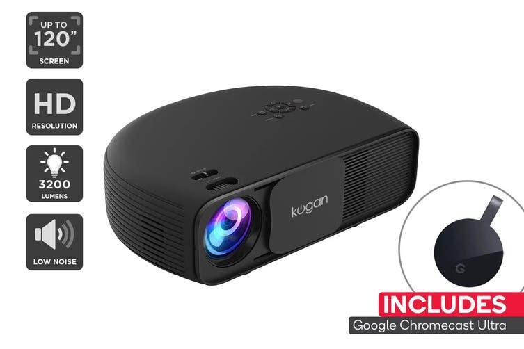 Kogan 3200 Lumens HD Projector + Chromecast Ultra