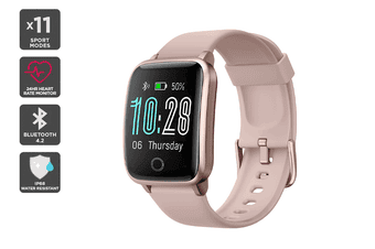 Kogan Pulse+ Lite Smart Watch (Rose Pink)