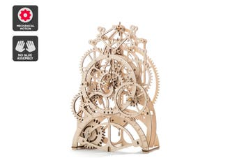 DIY Mechanical Wooden Puzzle (Pendulum Clock)