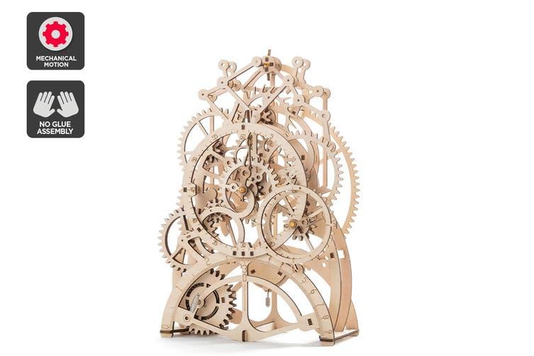 DIY Mechanical Wooden Puzzle (Pendulum Clock)