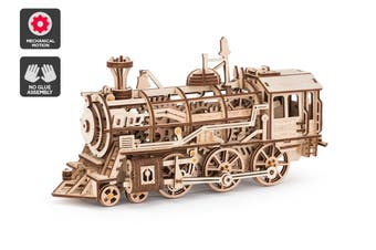 DIY Mechanical Wooden Puzzle (Locomotive)