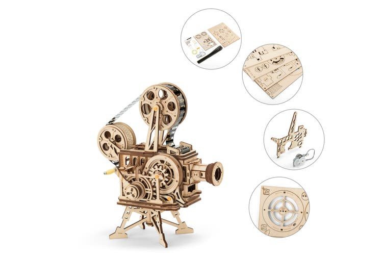 DIY Mechanical Wooden Puzzle (Vitascope)