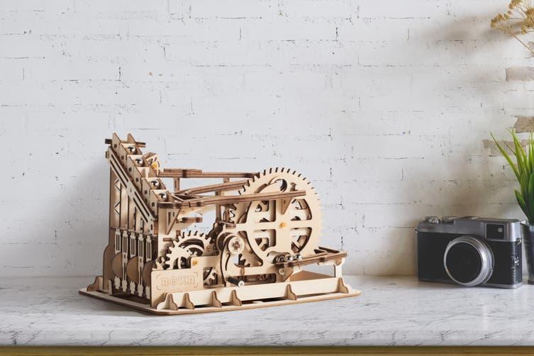 DIY Mechanical Wooden Puzzle (Waterwheel Coaster)