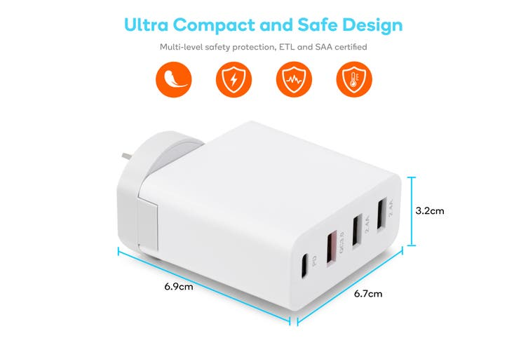 Kogan 4-Port Rapid Travel Charger with QC & PD