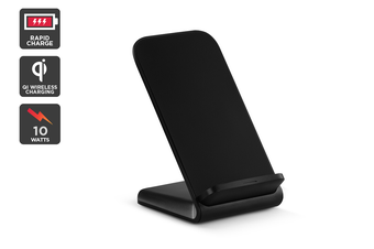 Kogan 10W Qi Wireless Fast Charging Stand (Black)
