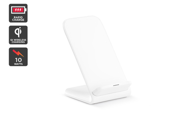 Kogan 10W Qi Wireless Fast Charging Stand (White)