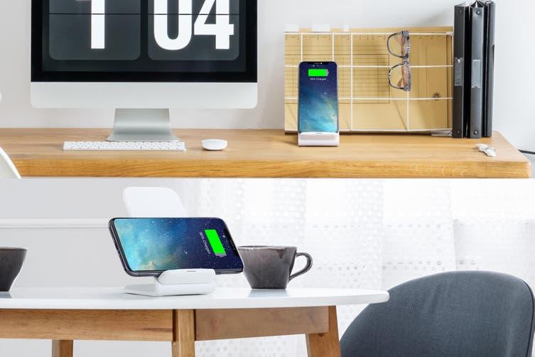 Kogan 10W Qi Wireless Fast Charging Stand (White)
