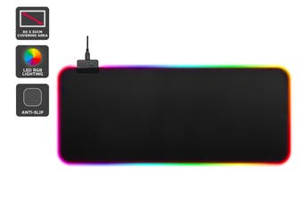 Kogan RGB LED Gaming Keyboard & Mouse Pad (80 x 30cm)