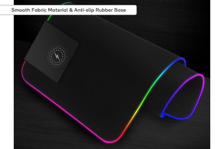 Kogan RGB LED Gaming 10W Wireless Charging Keyboard & Mouse Pad