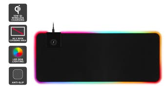 Kogan RGB LED Gaming 10W Wireless Charging Keyboard & Mouse Pad