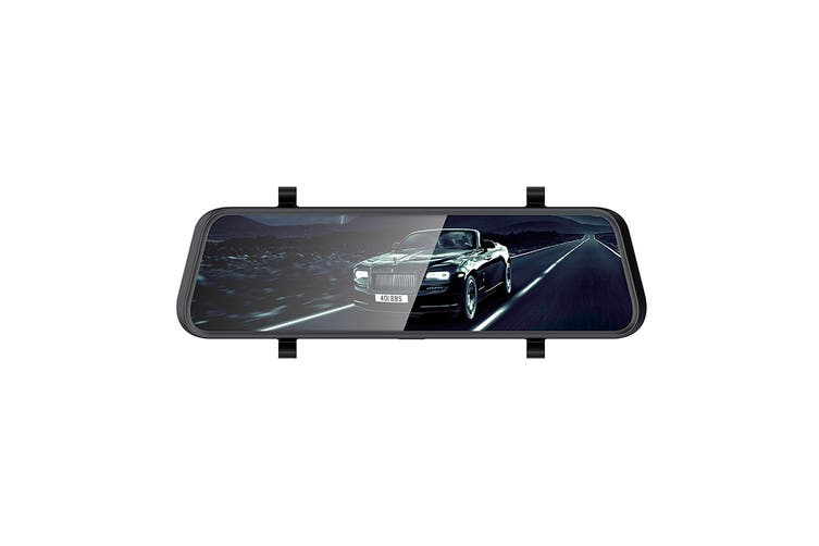 Kogan Rear View Mirror Dash Cam and Reverse Camera with ADAS