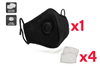 Washable & Reusable PM2.5 Face Mask With Respirator (1 Mask + 4 Filters)